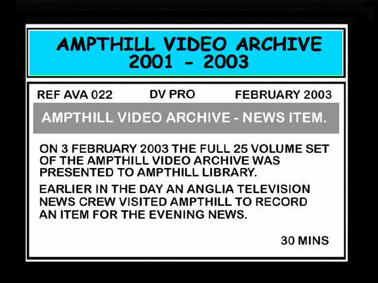 Anglia News - Ampthill Video Archive